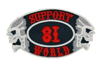 HELLS ANGELS Support 81 Patch  Aufnäher SUPPORT 81 WORLD P18