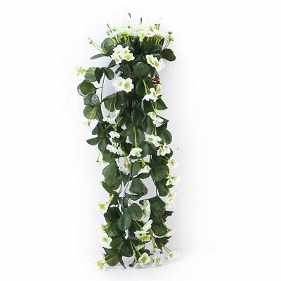 1 piece Hanging Violet Garland Flower Vine Wedding Cake Decoration White O9E6