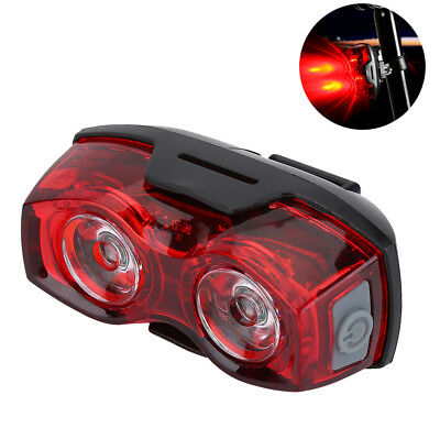 Night Super Bright Cycling Bicycle Red 2 Led Tail Rear Bike Light Safety Lamp