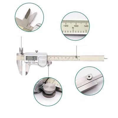 Vernier Caliper Digital LCD Electronic Tool Stainless Steel Micrometer 200mm