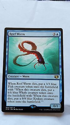 1x REEF WORM - Rare - Commander/M25 - MTG - NM - Magic the Gathering