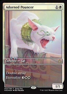 1x FULL ART ADORNED POUNCER - Rare - Gamesday - MTG - NM - Magic the Gathering