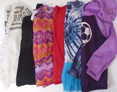 JUSTICE Lot Girls Size 10 Clothes Shirts Tops Sweatshirt Fall Winter