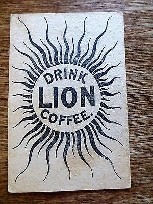 1800s Drink Lion Coffee Advertising Trade Rhode Island State History Facts RI