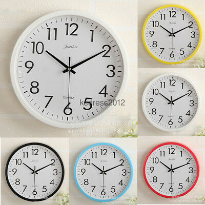 NEW Large Display Wall Clock Battery Kitchen Modern Retro Office School Time2018