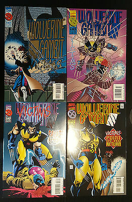 Wolverine/Gambit: Victims #1-4 Set (1995, Marvel) 2 3 Complete Mini-Series Set!