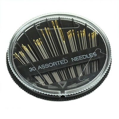 30PCS Assorted Hand Sewing Needles Embroidery Mending Craft Quilt Sew Case L7Y9