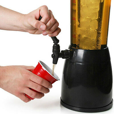 2.5L Beer Machine Beverage Dispenser Ice Tube for Wine Juice Soda Water fine