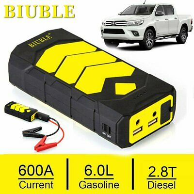 Portable Car Jump Starter Power Bank Vehicle Battery Charger 12V 12000mah Backup