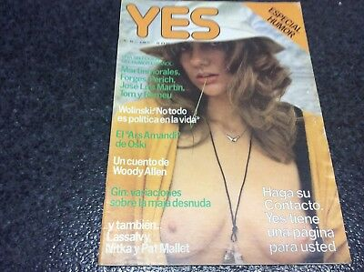 YES - Nº 16 - AÑO 1977 - ESPECIAL HUMOR - SILVIA DION  Magazine vintage Spanish