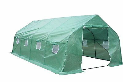 "Larger Heavy Duty Greenhouse Walk In Tunnel Green House Outdoor Garden 20""x10""x7"