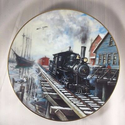 By Sea or Rail 1993 Winter Rails Collector Plate by Hamilton Collection