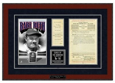 Photo File New York Yankees Babe Ruth Framed Art MLB Replica Sold to Contract NY