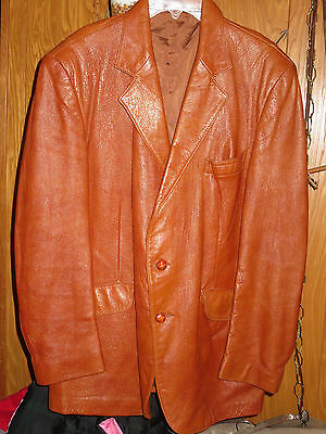 Angel Skin Cabretta Leather by Grais USA Lined Leather Blazer Jacket Men's 42 R