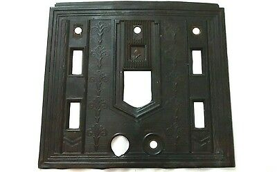 Vintage Ornate Bronzed Copper Outlet Switch Plate Cover Medieval Knight Salvage