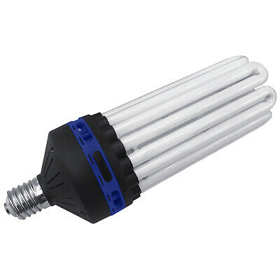 Hydroponic 125 150 200 250 300w CFL Light Bulb Cool White Grow Tent 6400K BLUE