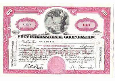 Coty International Corp., 1940s, red