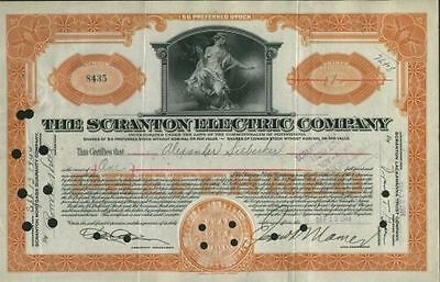 Scranton Electric Co., 1930s, orange