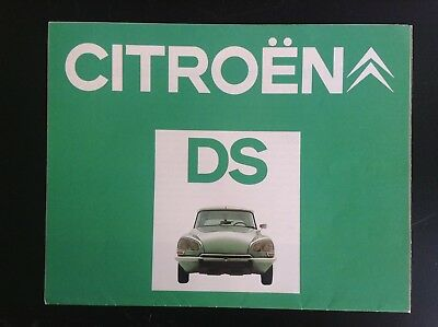 Catalogue Citroen  DS TRES TRES BON ETAT