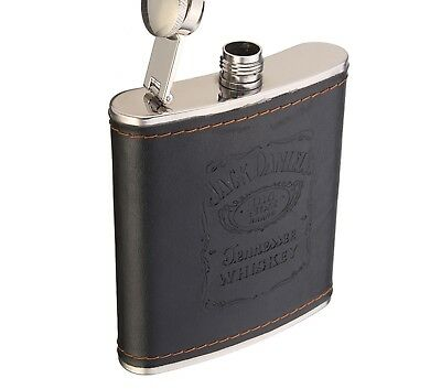 Jack Daniels Whiskey Flagon 7oz Stainless Steel Hip Flask Flagon Liquor Flasks