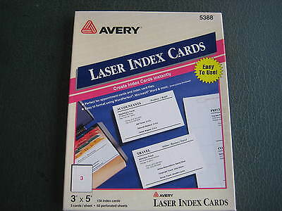 avery 3x5 index card