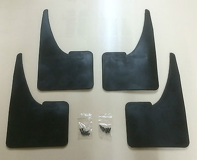 PEUGEOT MUDFLAPS PLAIN x4 - set of Mudflaps + fittings 207 - 208 ETC - EASY FIT