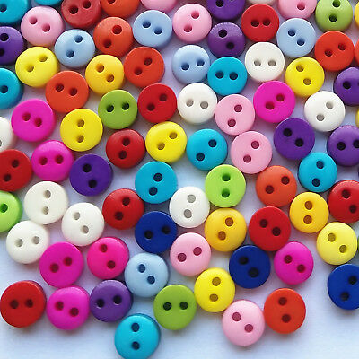 Colorful Mini Plastic Resin Button Sewing Button Diy Craft Doll Embelishment