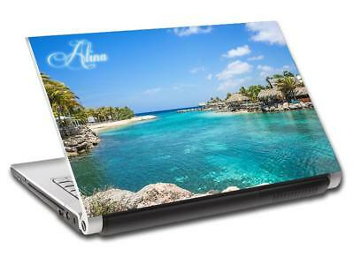 Exotic Beach Personalized LAPTOP Skin Decal Vinyl Sticker ANY NAME L691