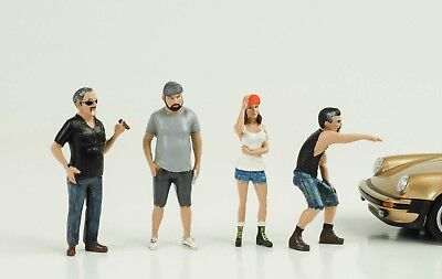 HOT ROD RODDERS Cool 4 Figures Set Figure 1:24 AMERICAN DIORAMA