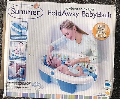Newborn to Toddler Fold Away / Travel Full Size Baby Bath, by Summer, EUC