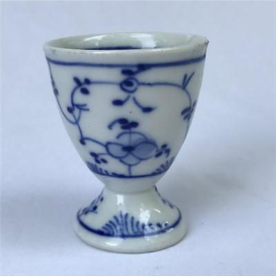 Antique Early Meissen Blue on White Egg Cup Signed