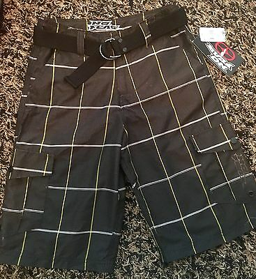 Brand New Boys No Fear Shorts/ Swimsuit  With Belt. Size 16 Boys Youth.