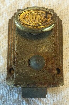 Antique Brass ILCO Lock Mechanism Door Turn Bolt Lock 1800's - Early 1900's