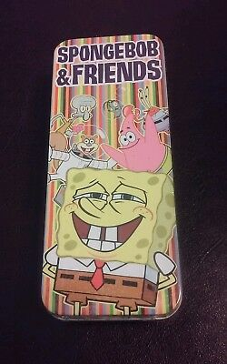 New 2004 Sealed Spongebob & Friends Watch In Tin Burger King Viacom
