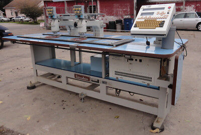 Barudan Smt 2 Station / 5 Needle / 5 Color Embroidery Machine - Used 115V, 1-Ph