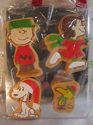 """Hallmark Peanuts Christmas Cookie Magnets on """"Metal"""" Cookie Sheet Charlie Lucy"""