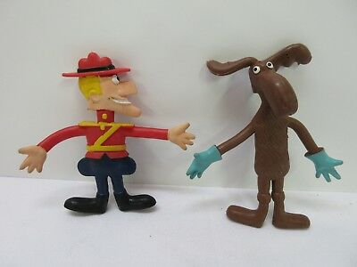 Dudley Doright, Bullwinkle Cartoon 1972 Bendable Figures from Wham-o Mfg