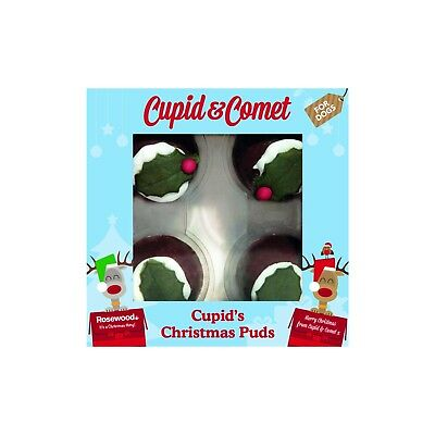 Rosewood Dog Christmas Puddings Carob Gluten Free Cupid & Comet Treats