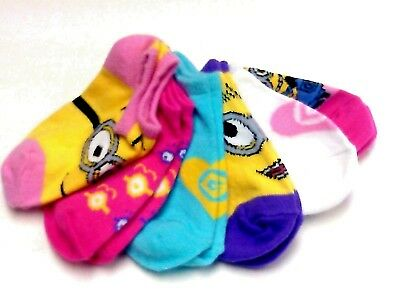 Despicable Me 6 pair socks size 4-7.5 nwot