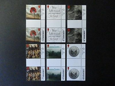 Gb 2016 Sg3838-43 The Great War 1916 Gutter Pairs