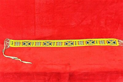 Vintage Native American Northern Plains Beaded Sash/Belt