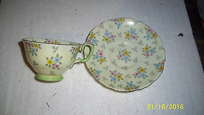 Vintage Crown Staffordshire Tea Cup & Saucer