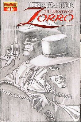 LONE RANGER The Death of Zorro #1 Black & White Alex Ross Variant Cover 2011 NM