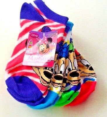 Minnie Mouse girls 4 pair socks size 10.5-4 nwt