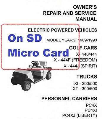 Ezgo golf cart manual 89 93 electric 70 90 gas more 999 ezgo electric and gasoline golf carts trucks service manuals 1970 1993 on sd publicscrutiny Image collections