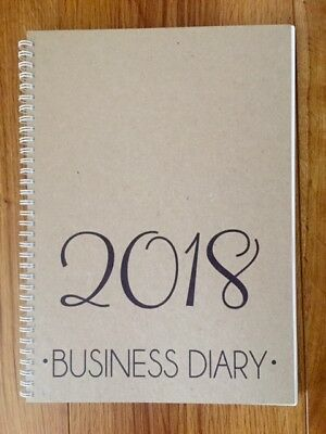 2018 business diary A4 - week to view NEW - journal planner FREE POST organiser