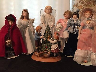 Lot Of Avon Porcelain Christmas Collectibles NIB includes Angel Treetopper