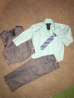 Kenneth Cole Reaction Boys 18 Month Gray Suit