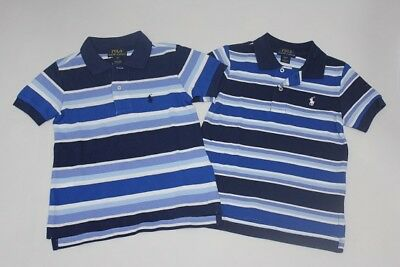 Brand New Authentic Ralph Lauren Boys Stripe Polo Shirts Size 2T.3T.4T.5.7