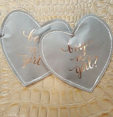 Gender Reveal Confetti Heart Pouch Party Surprise Rip Sachet Packet Baby BOY